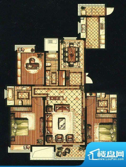 爱家名邸38号楼2单元面积:170.00平米