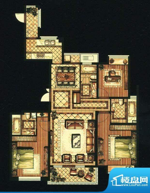 爱家名邸37号楼2单元面积:145.00平米