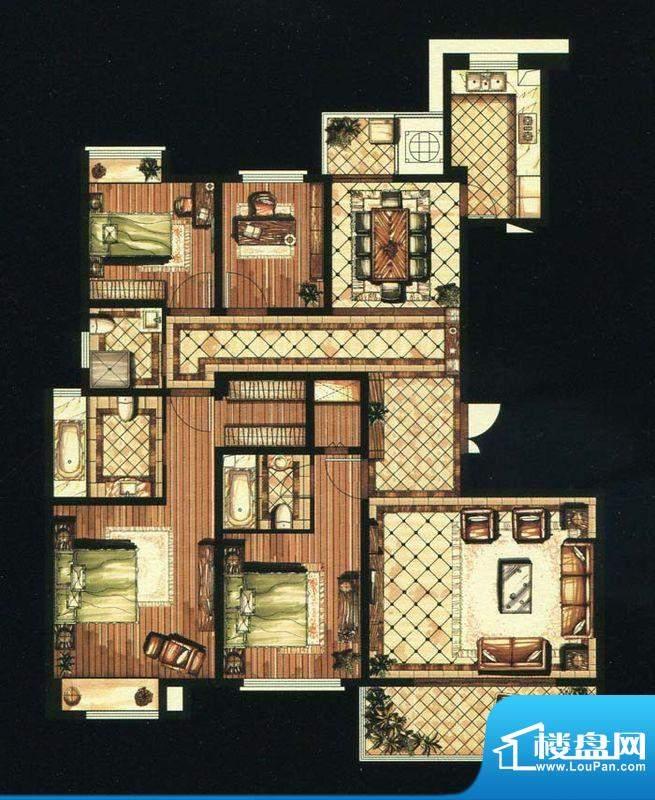 爱家名邸30号楼1单元面积:185.00平米