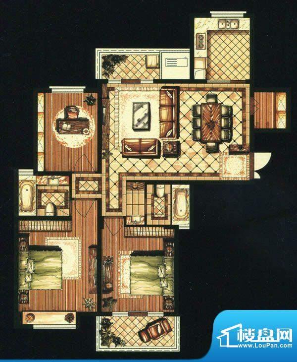 爱家名邸37号楼1单元面积:137.00平米