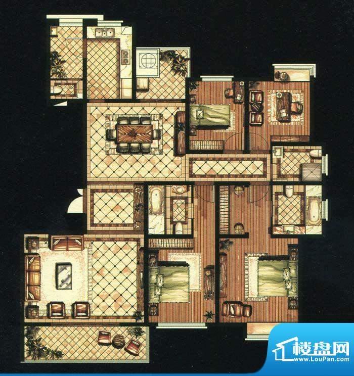 爱家名邸30号楼1单元面积:213.00平米
