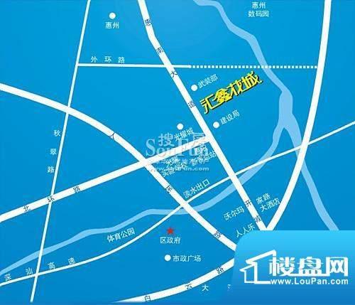 汇鑫花城交通图