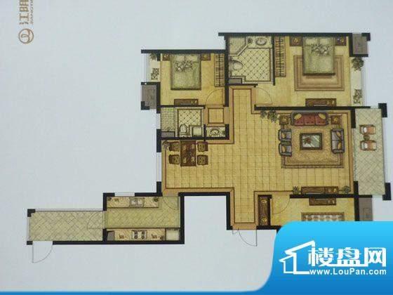 江阴万达广场D1户型面积:142.00平米