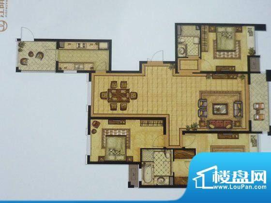 江阴万达广场E 3室2面积:169.00平米