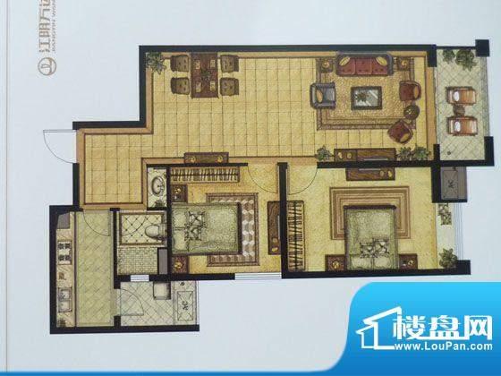 江阴万达广场A2 2室面积:96.00平米
