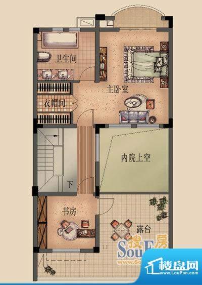 嘉福花园洋房别墅C三面积:235.00平米