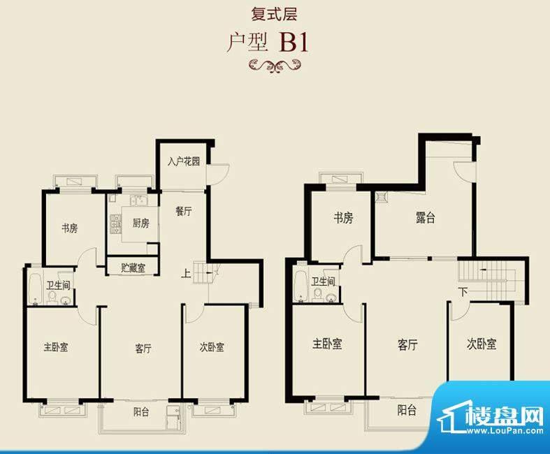 新澄富邸B1户型 6室面积:227.40平米