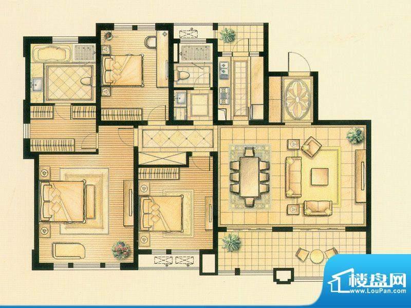 华润置地橡树湾50#楼面积:170.00平米