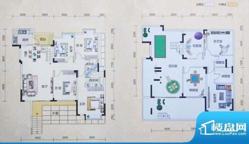 2期四房户型图