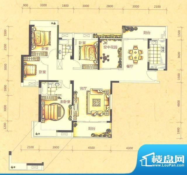 四房户型图