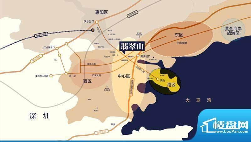 翡翠山交通图