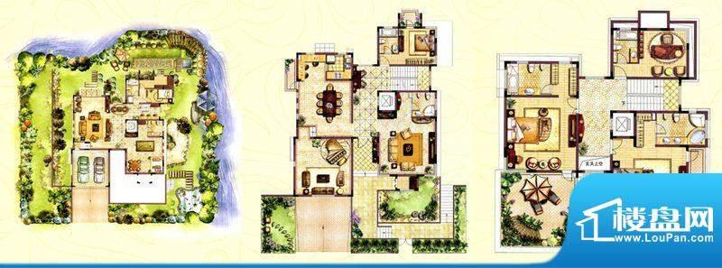 和院别墅G户型 7室3面积:596.00平米