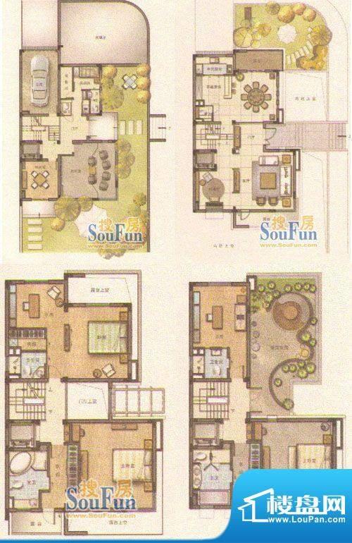和院D户型 8室3厅6卫面积:401.00平米
