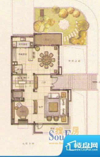 和院D户型一层 面积:0.00平米