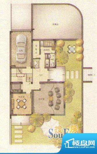 和院D户型底层 面积:0.00平米