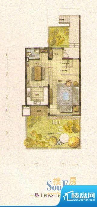 和院A户型一层 面积:0.00平米