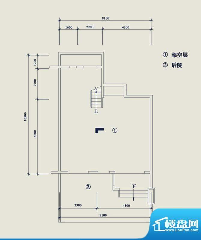 翡翠山T6架空层 4室面积:187.30平米