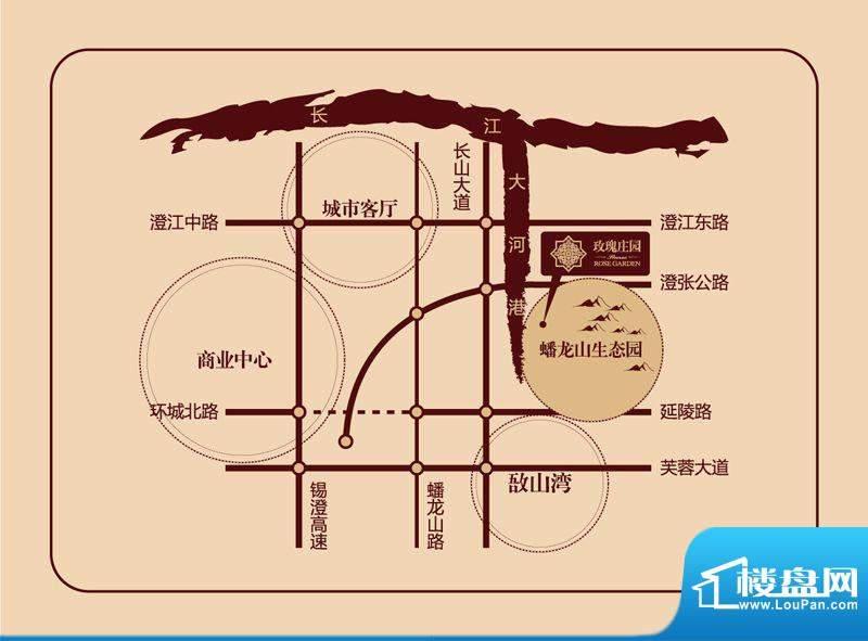 玫瑰庄园交通图