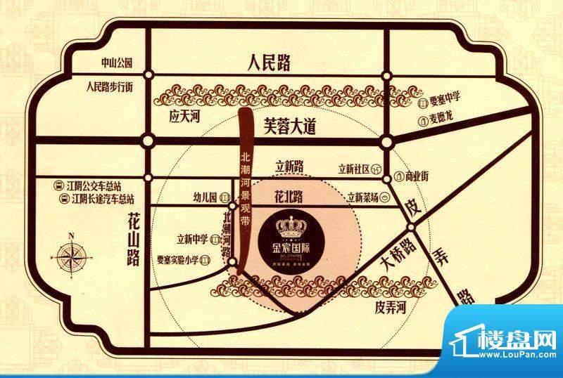 金宸国际花园交通图