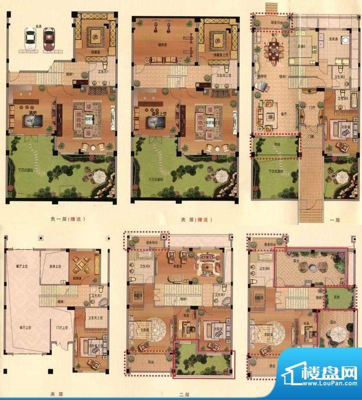 蟠龙湾别墅书香门第面积:320.00平米