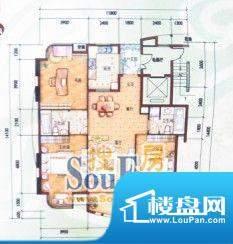 蟠龙湾户型图 3室2厅面积:140.00平米