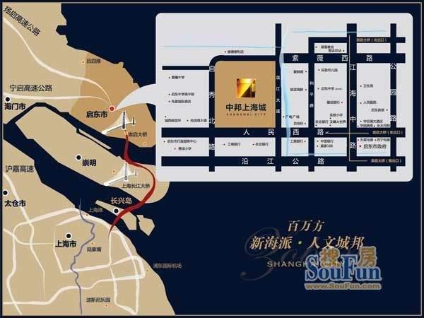 中邦上海城交通图