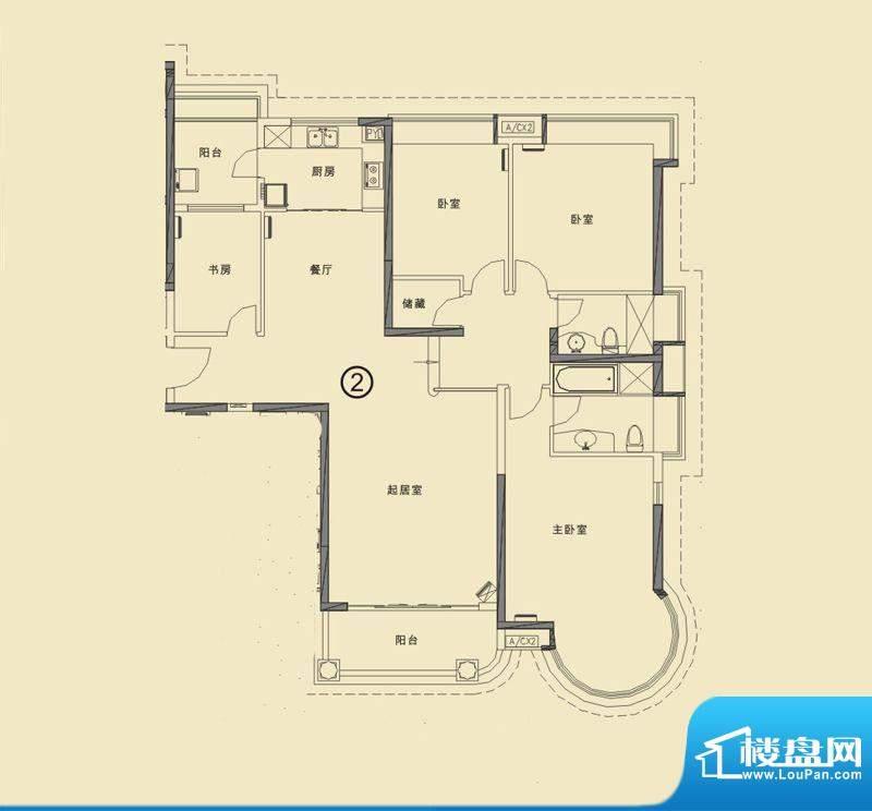 合生滨海城山海公寓面积:181.00平米