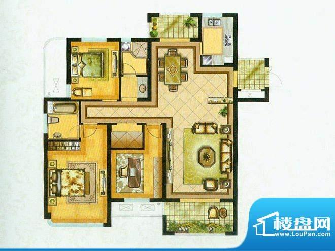 水绘绿源N户型 3室2面积:152.00平米