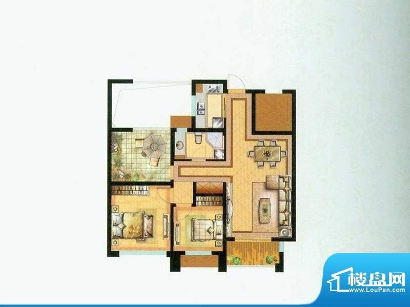 水绘绿源C户型 2室2面积:98.00平米