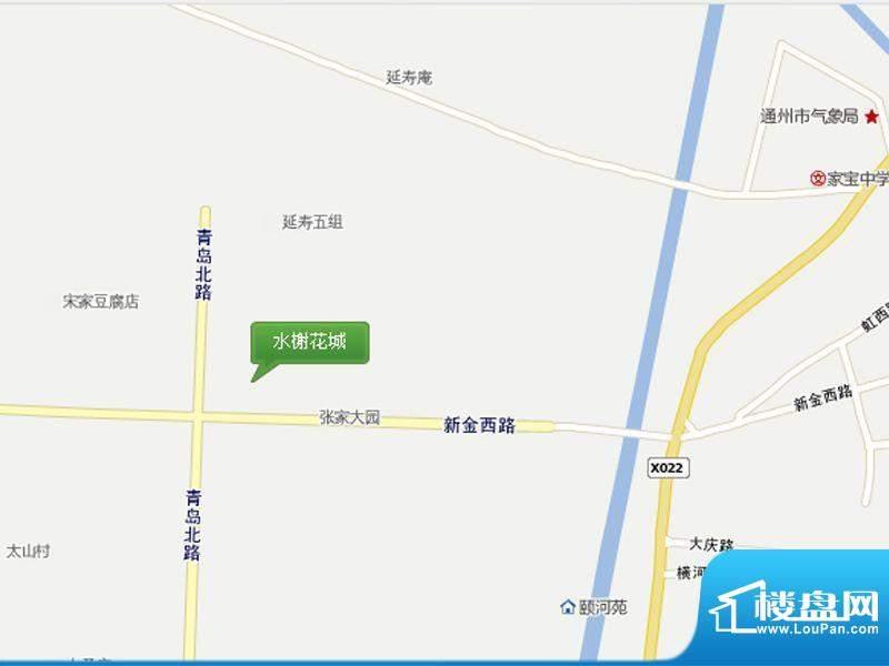 水榭花城交通图