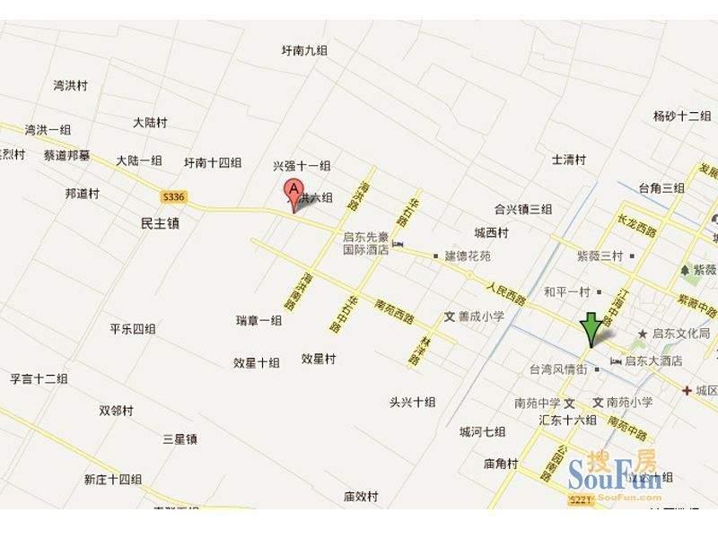 上海庄园交通图