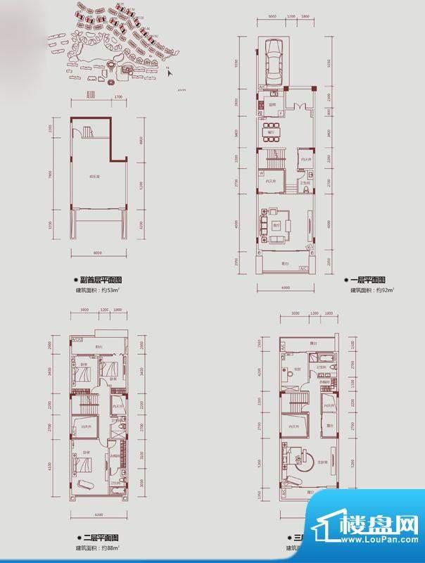 保利山水城聯排別墅戶型圖-惠州樓盤網
