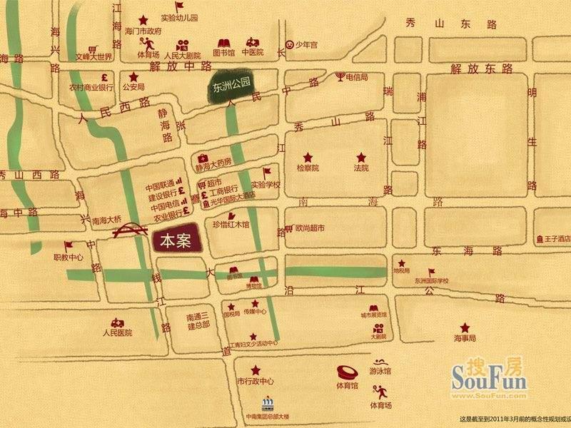海门中南世纪锦城交通图
