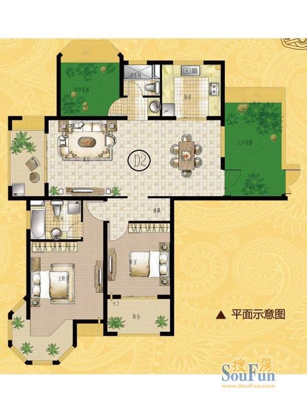 海门中南世纪锦城13面积:137.00平米