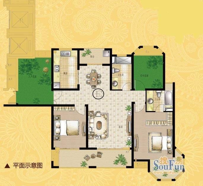海门中南世纪锦城14面积:148.00平米