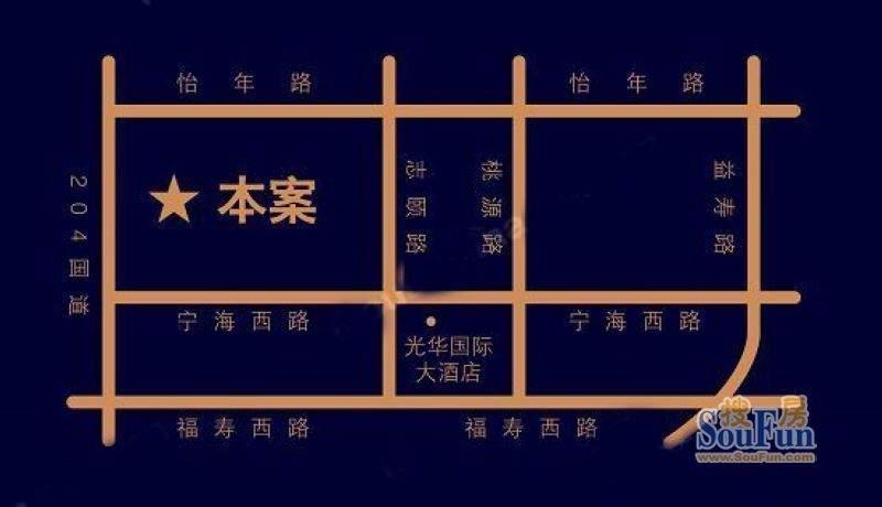 恒盛皇家花园交通图