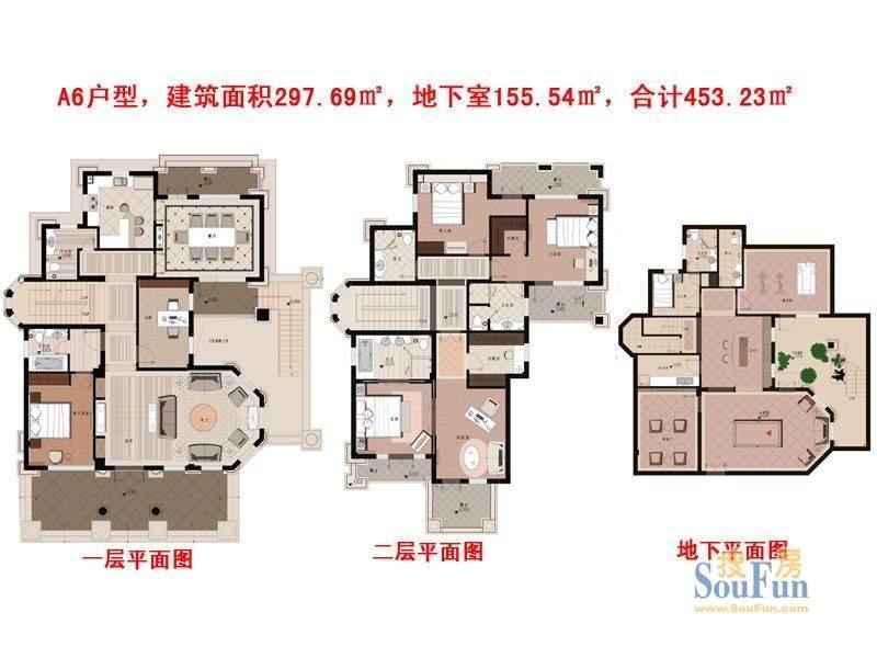 崇德馥园A6户型 9室面积:453.23平米