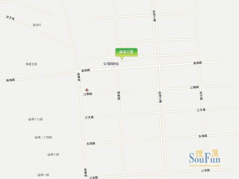 瀛海花墅交通图