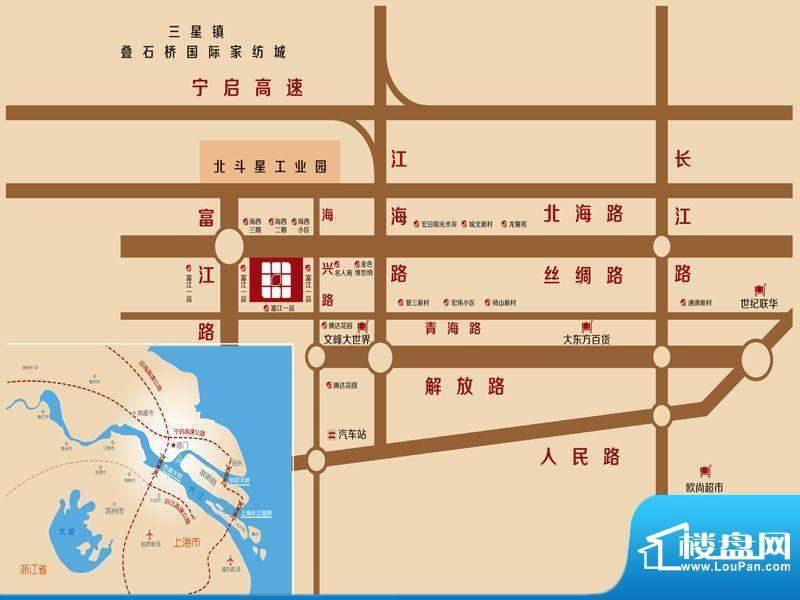 邻里之家富江商业广场交通图
