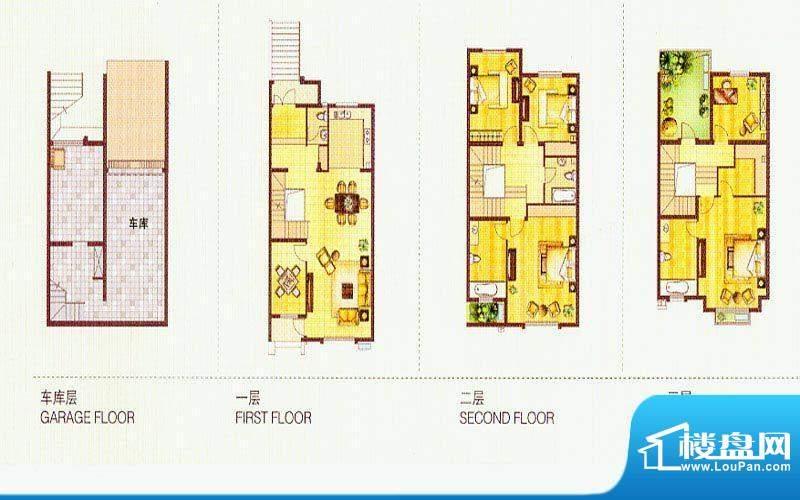 世纪桃园B户型 5室3面积:299.00平米