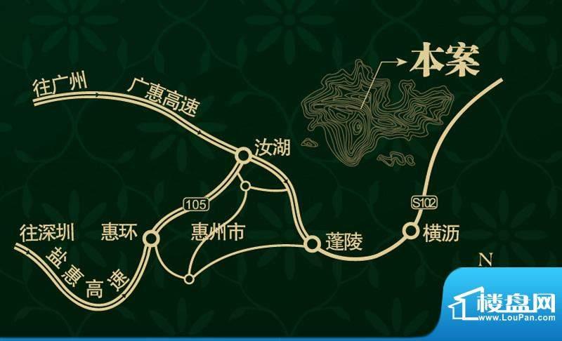 富力惠林温泉·小隐交通图