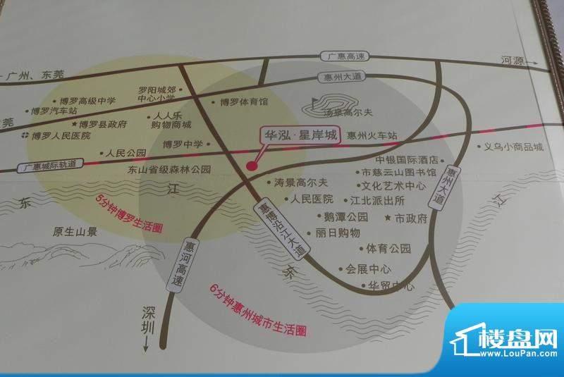 星岸城交通图