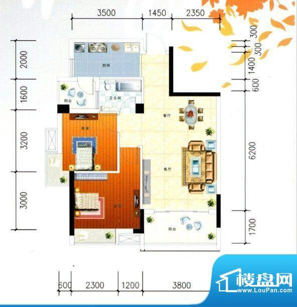 柳工颐华城二期10#楼面积:76.00m平米