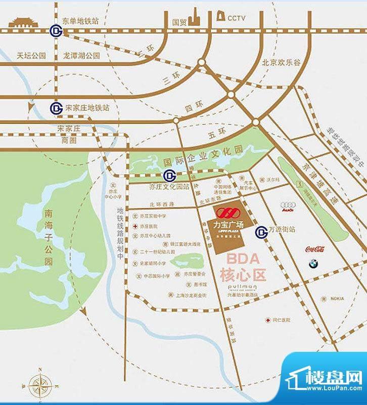 力宝广场交通图