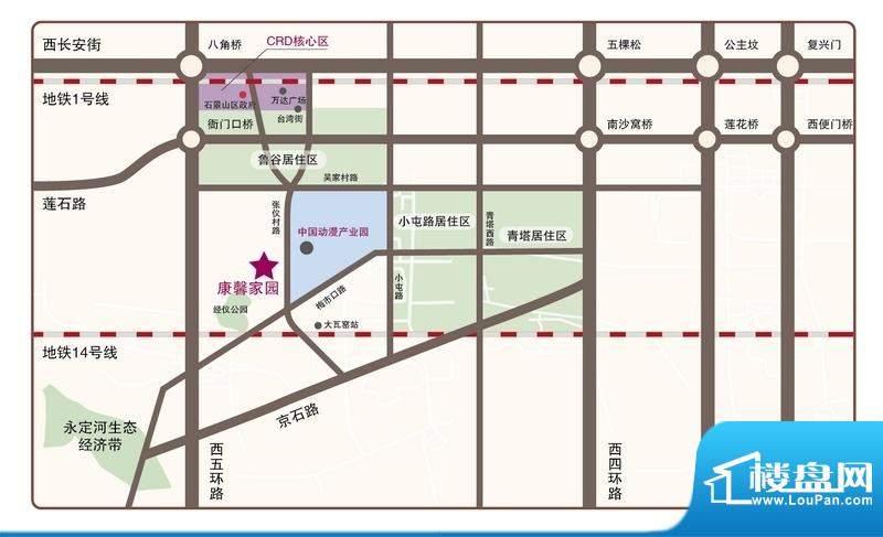 广安康馨家园交通图