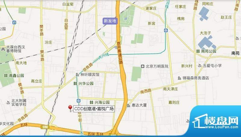 CDD创意港·嘉悦广场交通图