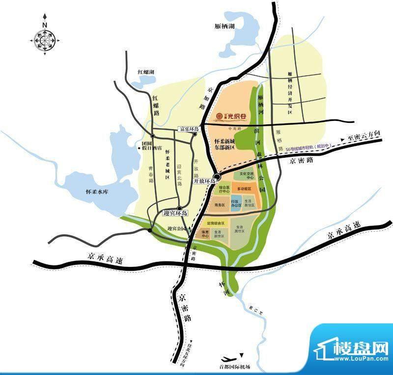 世嘉光织谷交通图