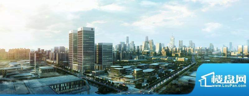达美中心广场俯视效果图
