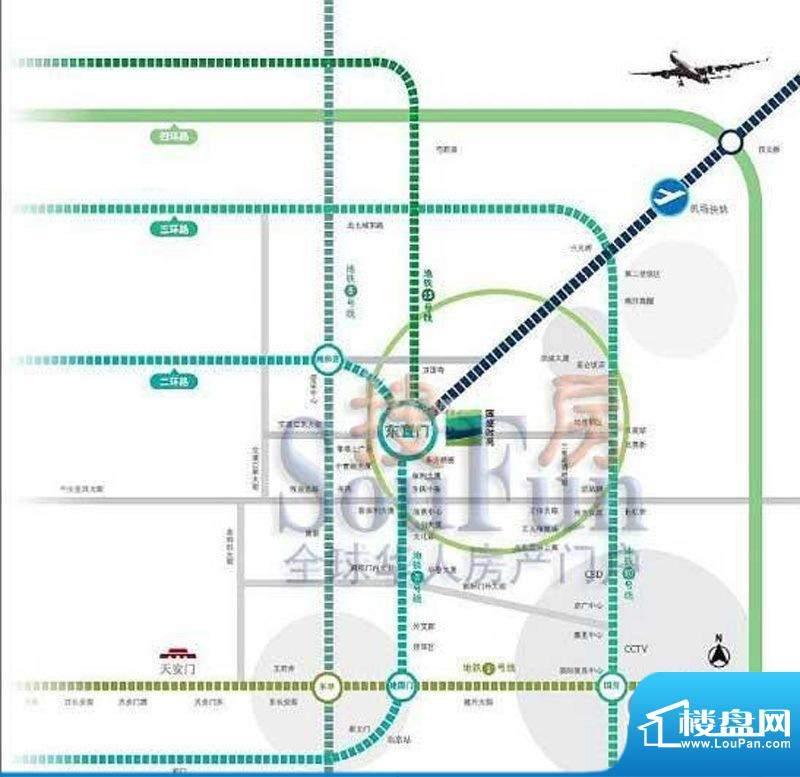 国盛中心交通图