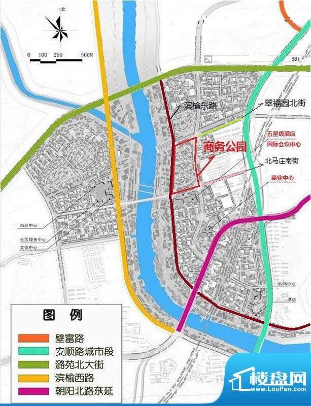 商务公园交通图